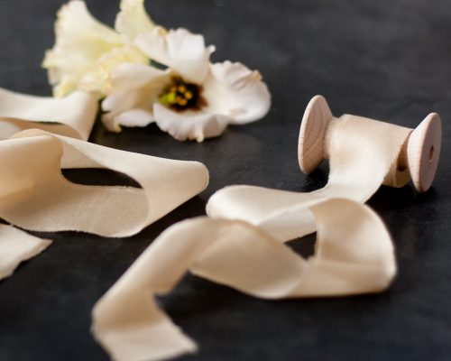 Silk Ribbon, tan