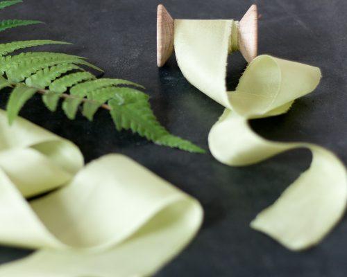 Silk Ribbon, celery